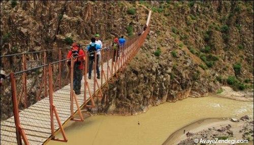 بلندترین و ترسناک ترین پل معلق ایران